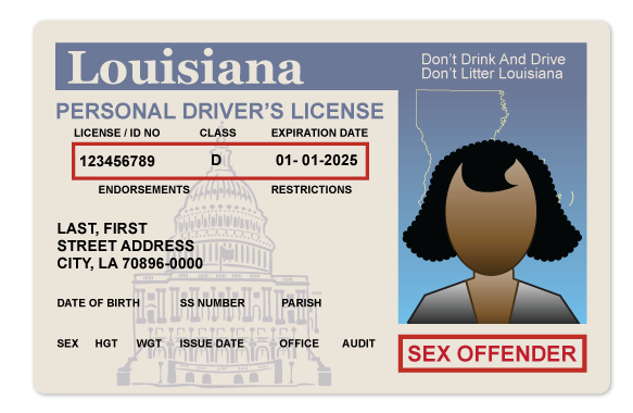 Louisiana sex crime registry
