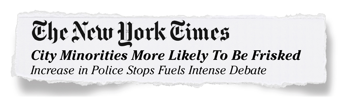 The New York Times - City Minorites More Likely To Be Frisked