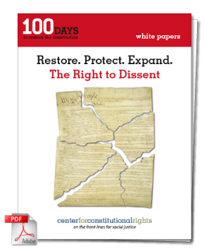 CCR's white paper on the Right to Dissent
