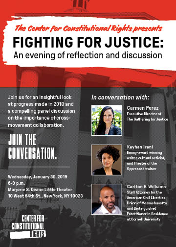 Fighting for Justice: An evening of reflection and discussion