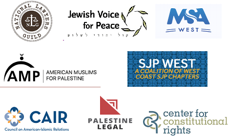CCR, Palestine Legal, and Other Civil Rights Organizations Send