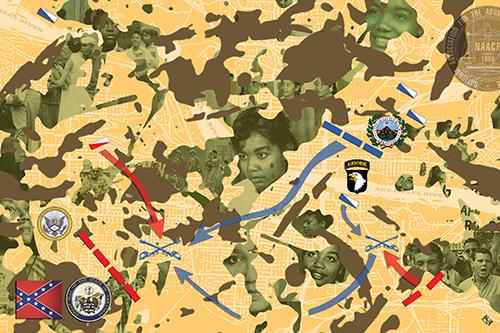 """Gotta Be a Soldier at the Battle of Morning Algebra"": Aaqil Ka artwork"