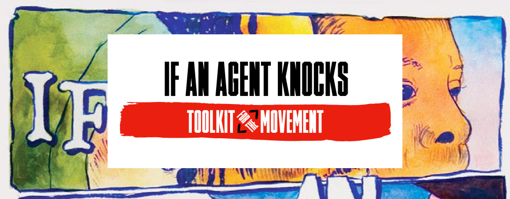 """If An Agent Knocks"" banner"