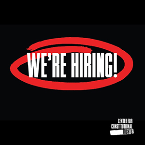 text reads we're hiring with a red circle around it