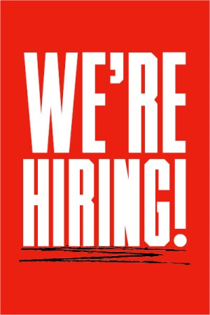 text reads we're hiring