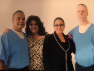 Gabriel Huerta, his wife Irene Huerta and Dolores Canales, and Todd Ashker