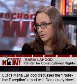 Maria LaHood on Democracy Now!