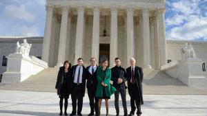 CCR legal team on the steps of the Supreme Court