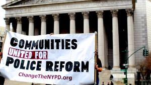 Communities United for Police Reform banner