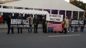 Veterans Day protest