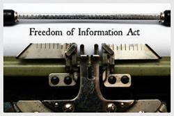 "typwriter typing ""Freedom of Information Act"""
