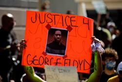 """Justice 4 George Floyd"" protest sign"