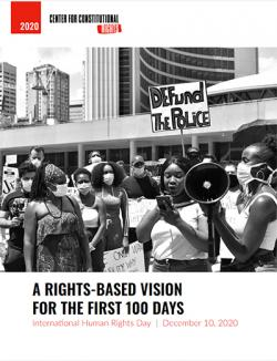 'Rights-Based Vision for the First 100 Days' report cover