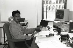 Photo: IT manager Orlando Gudino in 1997.