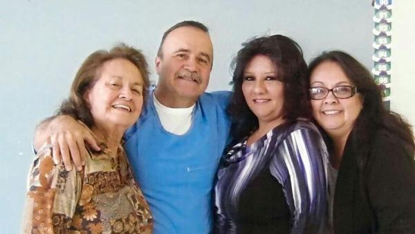 Gabriel Huerta with (L-R) his mother, his wife, and his sister
