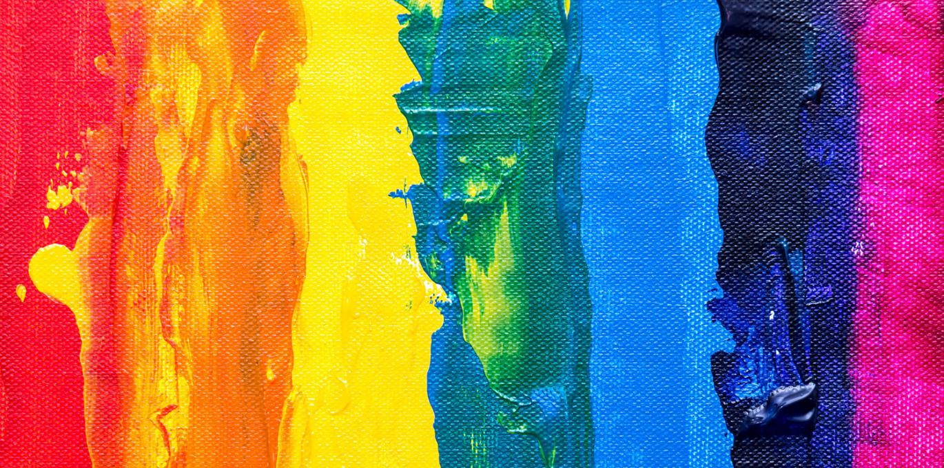 Rainbow flag painting