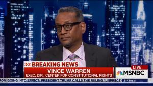 Vince Warren on MSNBC